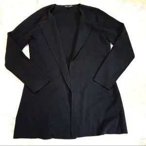 Eileen Fisher Black Simple Structured Cardigan